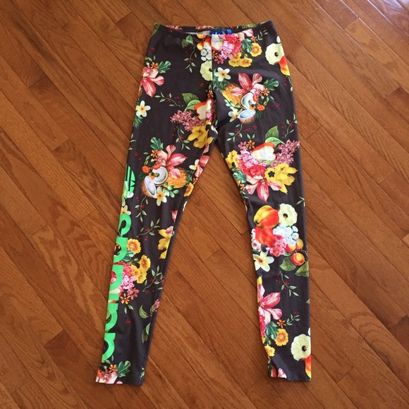 f625f807c6bb4e adidas Pants | Tropical Coconut Leggings | Poshmark